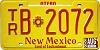1988 New Mexico Trailer # B2072