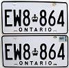 1988 Ontario Commercial pair # EW8-864