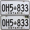 1988 Ontario Commercial pair # OH5-833