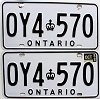 1988 Ontario Commercial pair # OY4-570