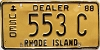 1988 Rhode Island Used Dealer # 553C