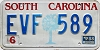 1988 SOUTH CAROLINA graphic license plate # EVF-589