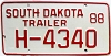 1988 South Dakota House Trailer # H-4340
