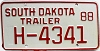 1988 South Dakota House Trailer # H-4341