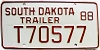 1988 South Dakota Trailer # T70577