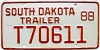 1988 South Dakota Trailer # T70611