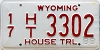 1988 Wyoming House Trailer # 3302, Campbell County