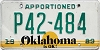 1989 Oklahoma Apportioned # P42-484