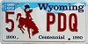 1989 Wyoming Centennial Vanity #PDQ, Albany County