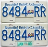 1989 British Columbia Flag graphic Truck pair # 8484-RR