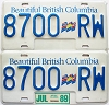 1989 British Columbia Flag graphic Truck pair # 8700-RW