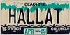 1989 British Columbia Vanity graphic # HALLAT