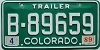 1989 Colorado Trailer # B-89659