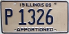 1989 Illinois Apportioned # P 1326