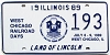1989 Illinois West Chicago Railroad Days graphic # 193