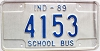 1989 Indiana School Bus # 4153