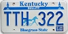 1989 KENTUCKY Churchill Downs graphic license plate # TTH-322
