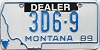 1989 Montana Dealer # 3D6-9, Yellowstone County