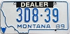 1989 Montana Dealer # 3D8-39, Yellowstone County