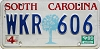 1989 SOUTH CAROLINA graphic license plate # WKR-606