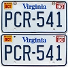 1990 Virginia pair #PCR-541