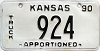1990 Kansas Apportioned Truck # 924
