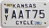 1990 Kansas Motorcycle # AAT75, Wyandotte County
