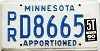 1990 Minnesota Apportioned # D8665