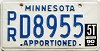 1990 Minnesota Apportioned # D8955