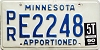 1990 Minnesota Apportioned # E2248