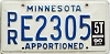 1990 Minnesota Apportioned # E2305
