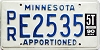 1990 Minnesota Apportioned # E2535