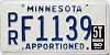 1990 Minnesota Apportioned # F1139
