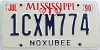 1990 Mississippi graphic # 1CXM774