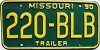 1990 Missouri Trailer # 220-BLB