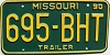 1990 Missouri Trailer # 695-BHT