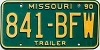 1990 Missouri Trailer # 841-BFW