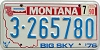 1990 Montana Bicentennial graphic # 3-265780, Yellowstone County