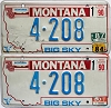 1990 Montana Bicentennial graphic pair # 4-208, Missoula County