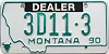 1990 Montana Dealer # 3D11-3, Yellowstone County