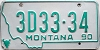 1990 Montana Dealer # 3D33-34, Yellowstone County