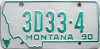 1990 Montana Dealer # 3D33-4, Yellowstone County