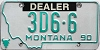 1990 Montana Dealer # 3D6-6, Yellowstone County