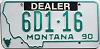 1990 Montana Dealer # 6D1-16, Gallatin County