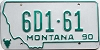 1990 Montana Dealer # 6D1-61, Gallatin County