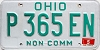 1990 Ohio Non Commercial # P365EN