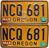 1990 Oregon pair # NCQ-681