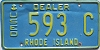 1990's Rhode Island Used Dealer # 593C