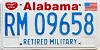 1991 Alabama Retired Military graphic # 9658