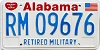 1991 Alabama Retired Military graphic # 9676